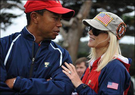 FORHOLDET TOK SLUTT: Skilsmissen mellom Tiger Woods (34) og Elin Nordegren (30) ble gjort offentlig tidligere denne uken. Foto: AFP