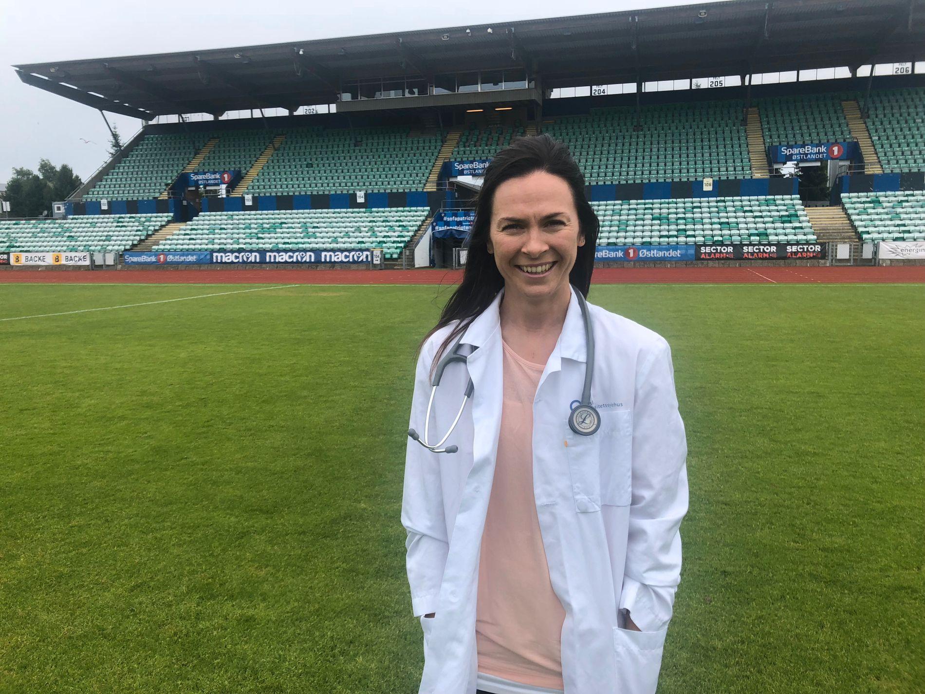 FRISK LEGE: Siri Nordeide Grønli starter i ny jobb denne høsten, som lege ved Bærum sykehus. Hun vet ennå ikke om det vil la seg kombinere med å fortsette karrieren på Nadderud.