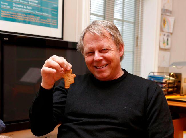 MANGLER BEN: Pepperkakene VG blir servert mangler ett ben – noe ironisk med tanke på at Ole Edvard Antonsen ikke har fått brukt sitt på seks måneder.