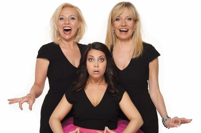 SHOWET: Cecilie Steinmann Neess hadde i 2013 showet «Latter på Latter» sammen med Linn Skåber og Hege Schøyen - som for øvrig er moren til hennes mannlige Gullruten-programlederkollega.