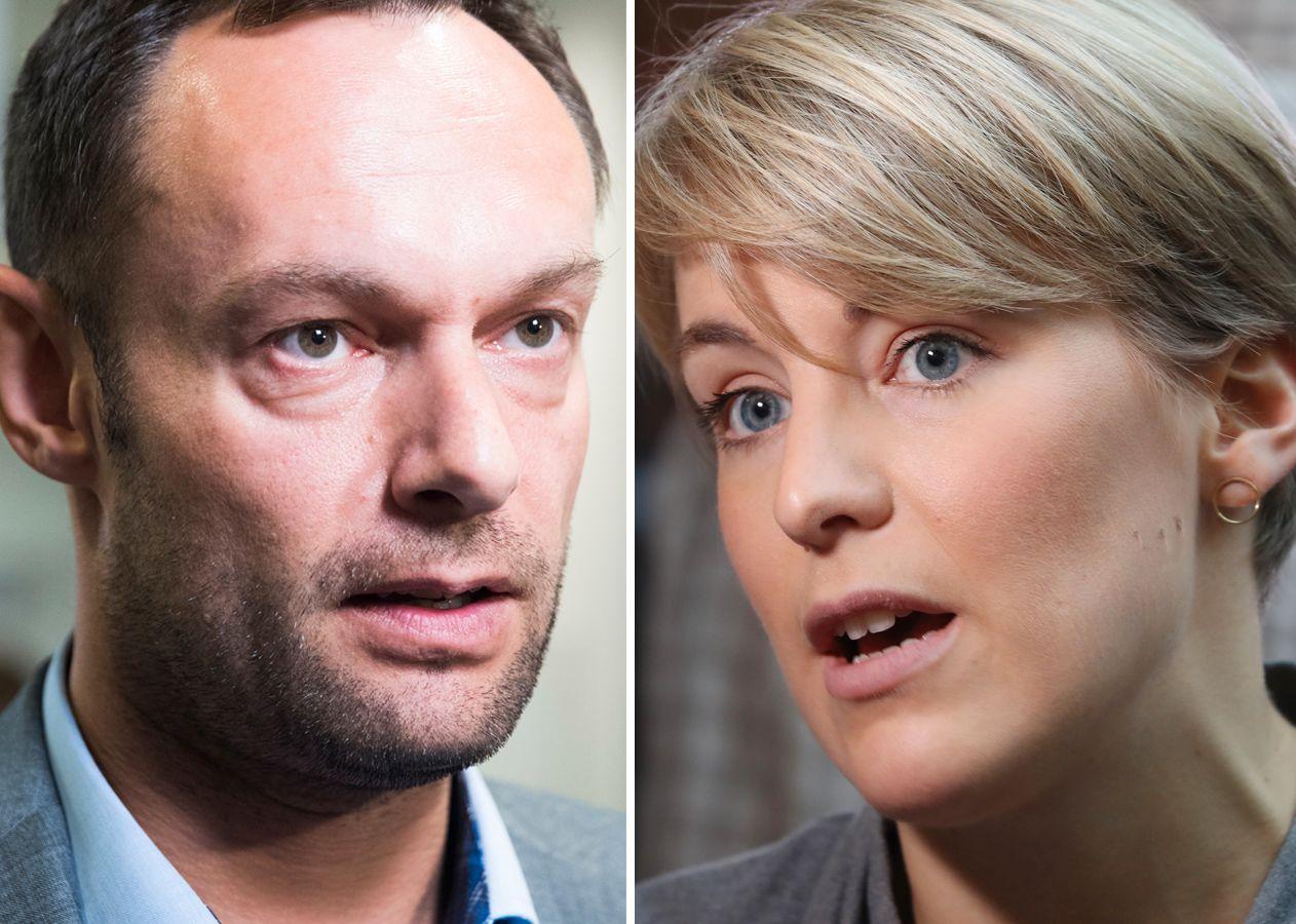 NESTLEDER: En av disse to, Torgeir Knag Fylkesnes og Kari Elisabeth Kaski, blir SVs nye nestleder.