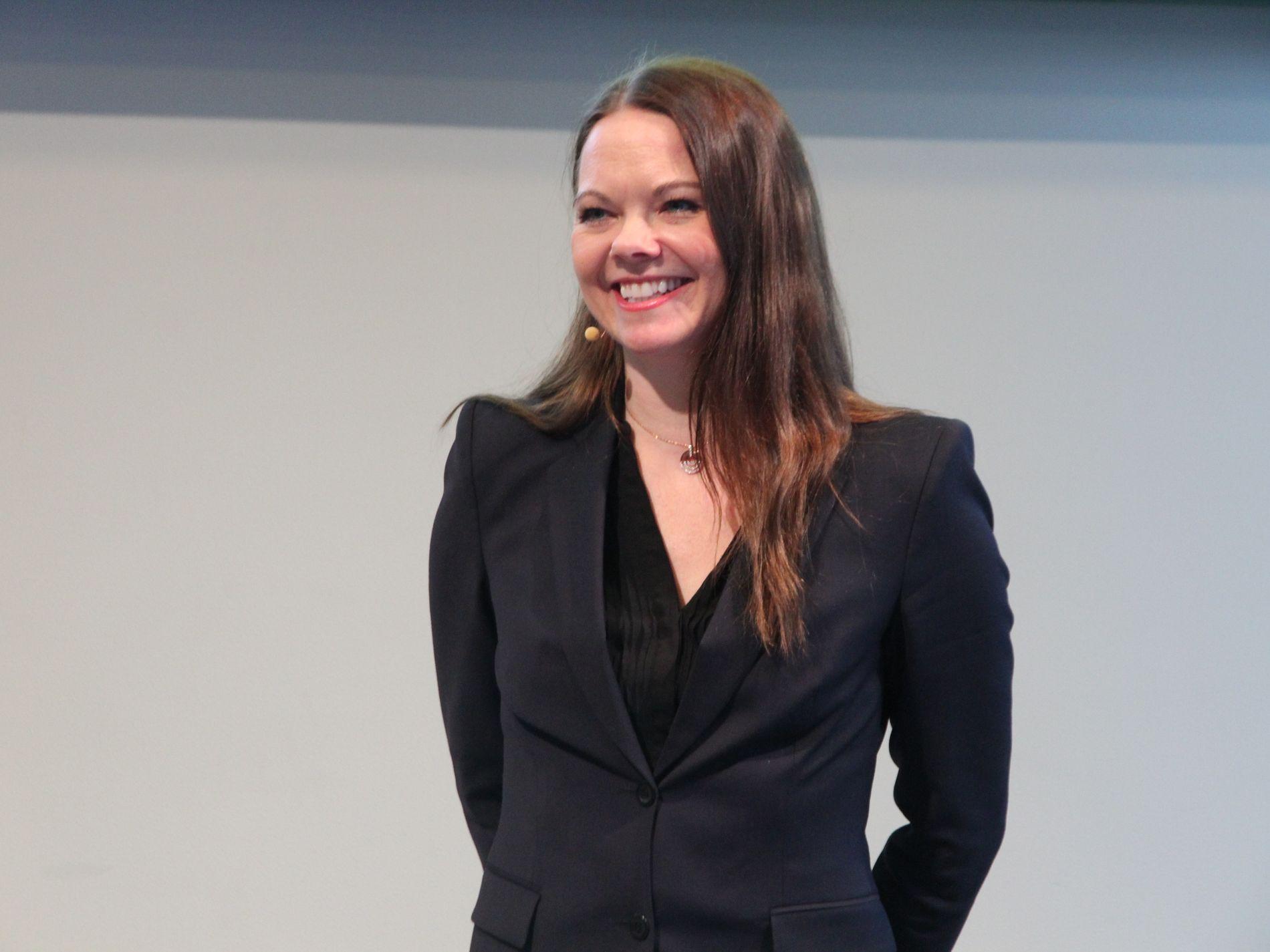 FANT MER SORT GULL: Letedirektør Evy Glørstad-Clark i Aker BP
