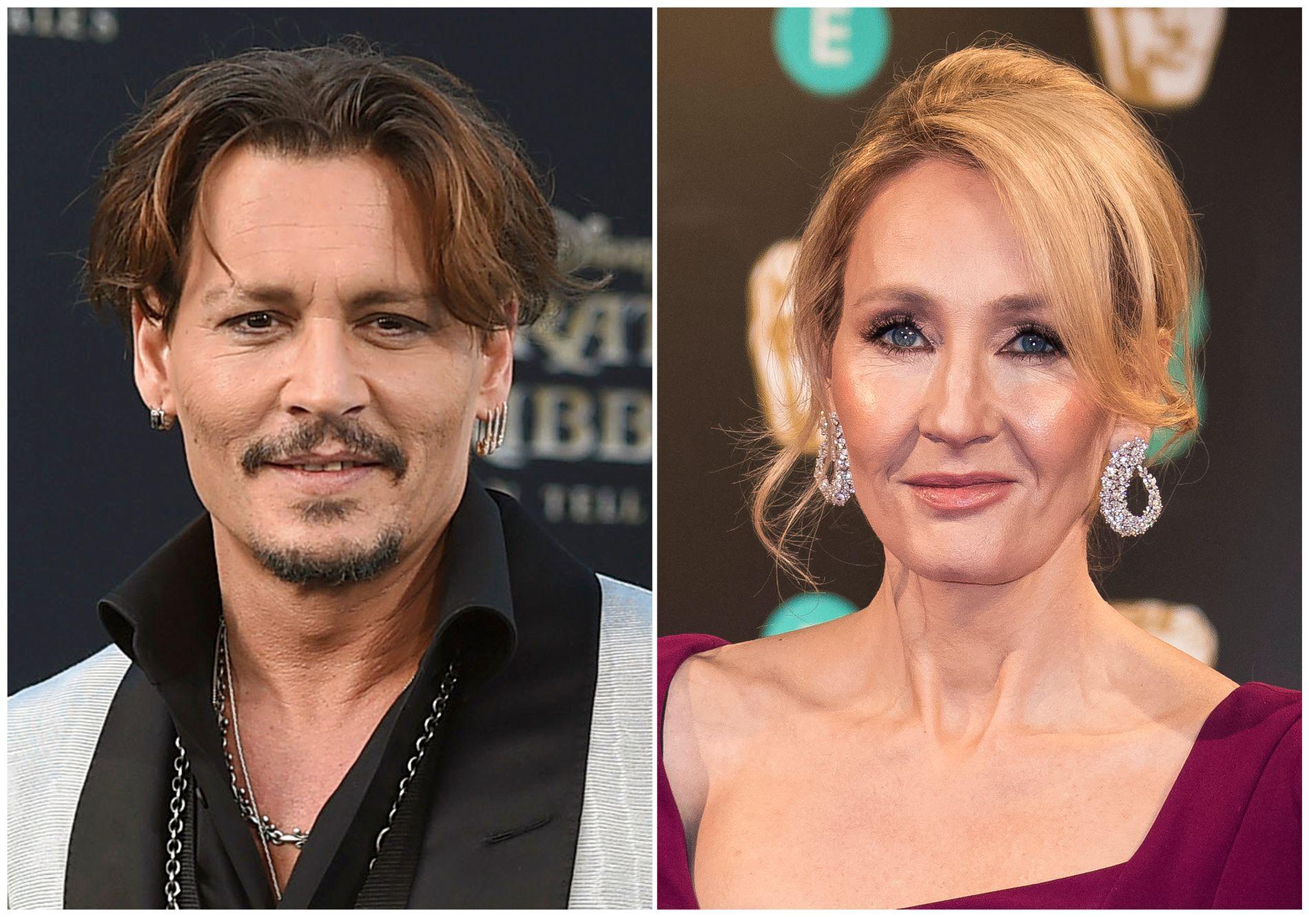 VANSKELIG VALG: J.K. Rowling sier nå at hun står fullt og helt bak beslutningen om å la Johnny Depp fortsette i rollen som som skurken Gellert Grindelwald i «Fantastic Beasts»-oppfølgeren som etter planen har premiere om ett år. – Men det var en vanskelig beslutning, sier den kjente forfatteren.