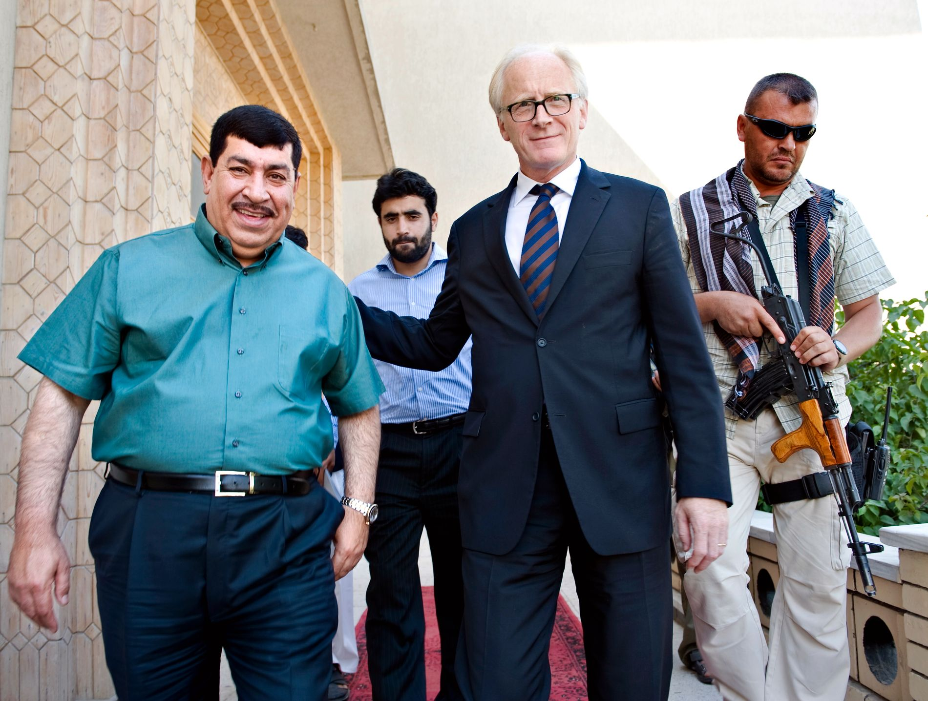 Kai Eide (second from right) was the UN special envoy to Afghanistan for several years.  Here from Jalalabad in 2009.