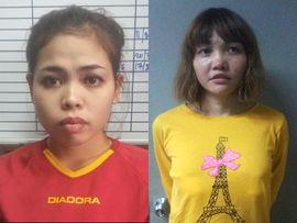 SIKTES: Siti Aishah (t.h) og Doan Thi Huong ble siktet for drap på Kim Jong-nam onsdag.