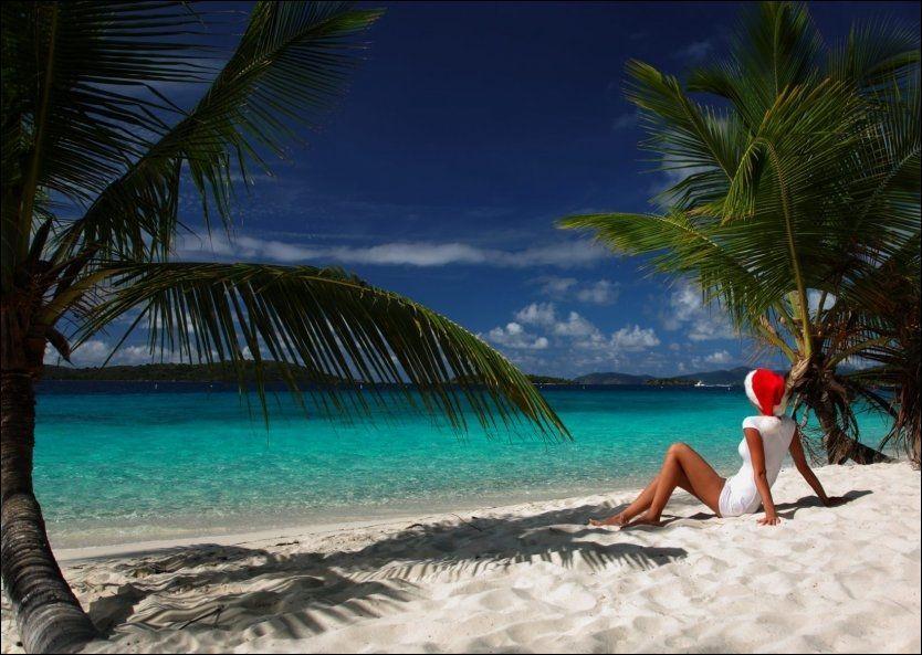 81c3cc38 SOL OG STRAND: Det er ikke for sent å få seg en tur til varmere strøk i  julen. Foto: STOCKEXPERT.