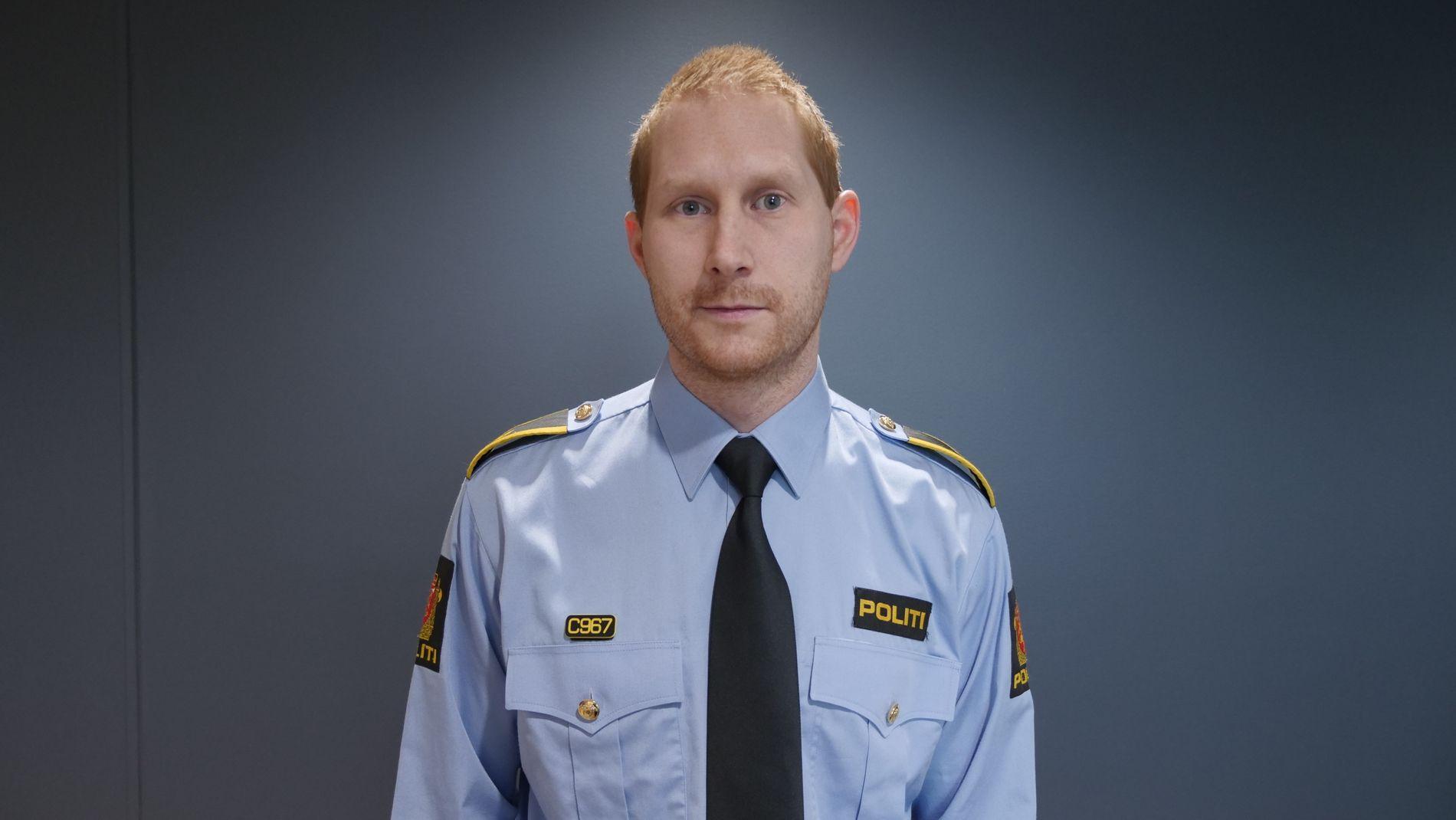 POLITIOVERBETJENT: Emil Kofoed ved Kripos' seksjon for seksuallovbrudd.