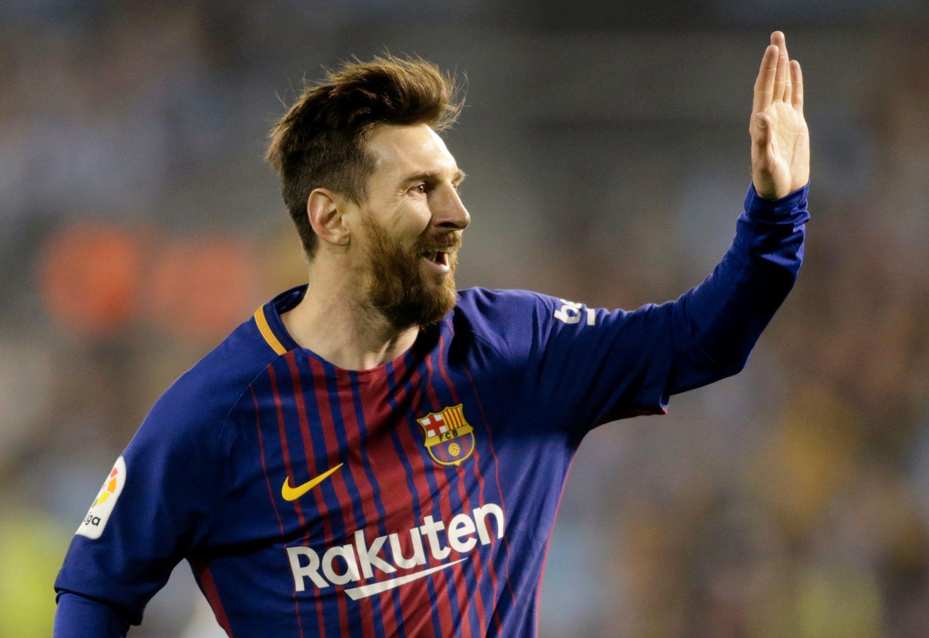HIGH FIVE: Lionel Messi kan juble for mer enn bare scoringer.