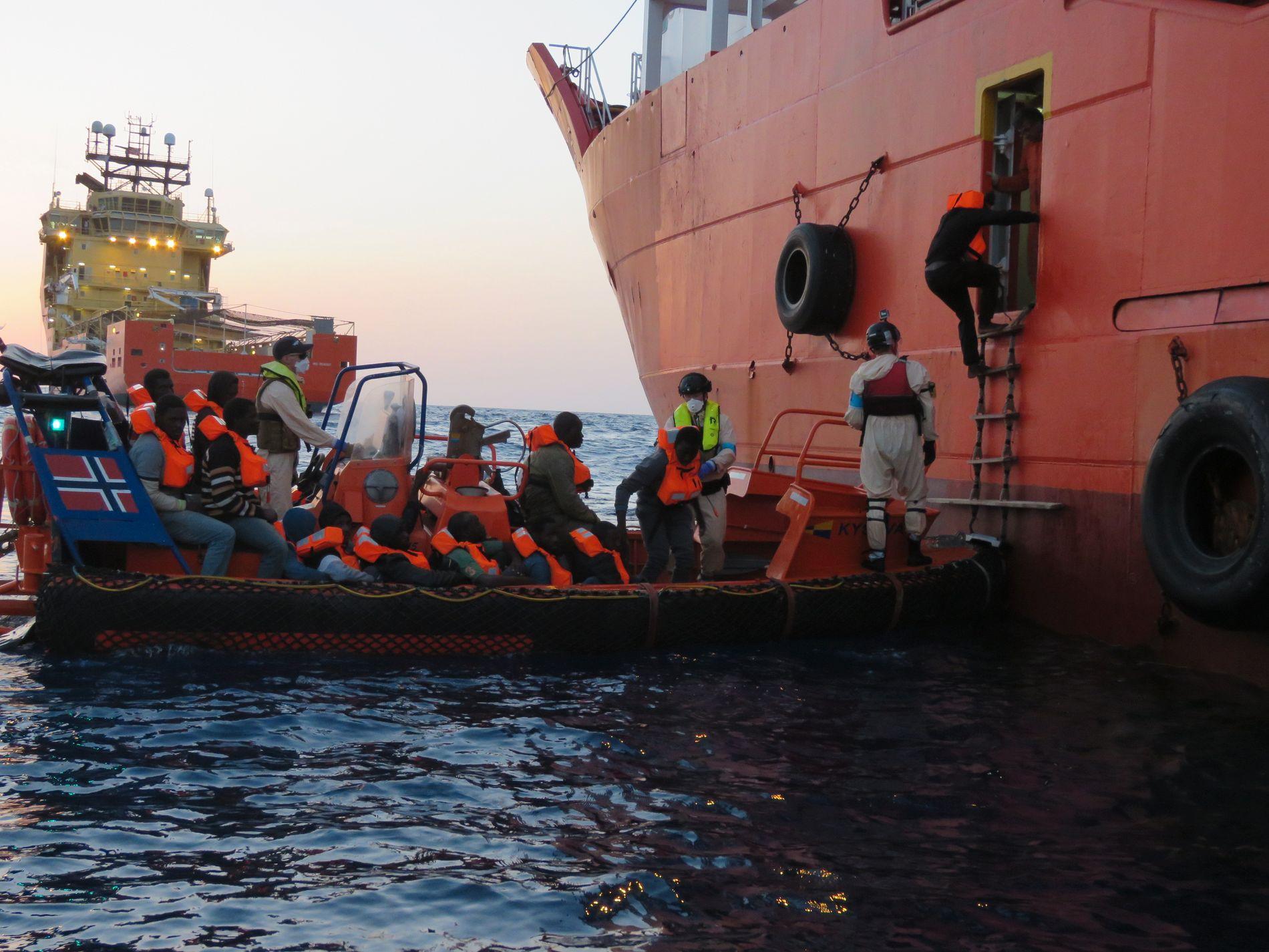 REDNINGSMANNSKAP: «Siem Pilot» i Middelhavet.