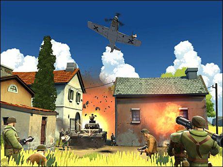OVERKOMMELIG: «Battlefield Heroes» har svært lave tekniske krav, og kjører greit selv på eldre maskiner. Foto: DICE/EA