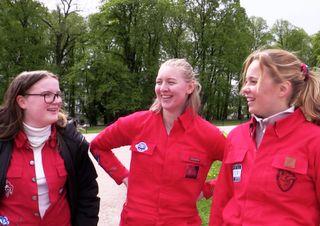 Fra venstre: Julie Fehn, Maren Røstholm og Rebekka Valvik Kristiansen.