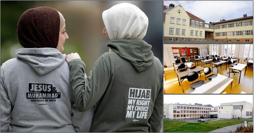 FORBYR CAPS: Lambertseter, Skullerud og Tåsen er blant skolene som forbyr caps og lue, men samtidig tillater hijab. Foto: AP/Aftenposten/Scanpix/Simen Grytøyr, VG