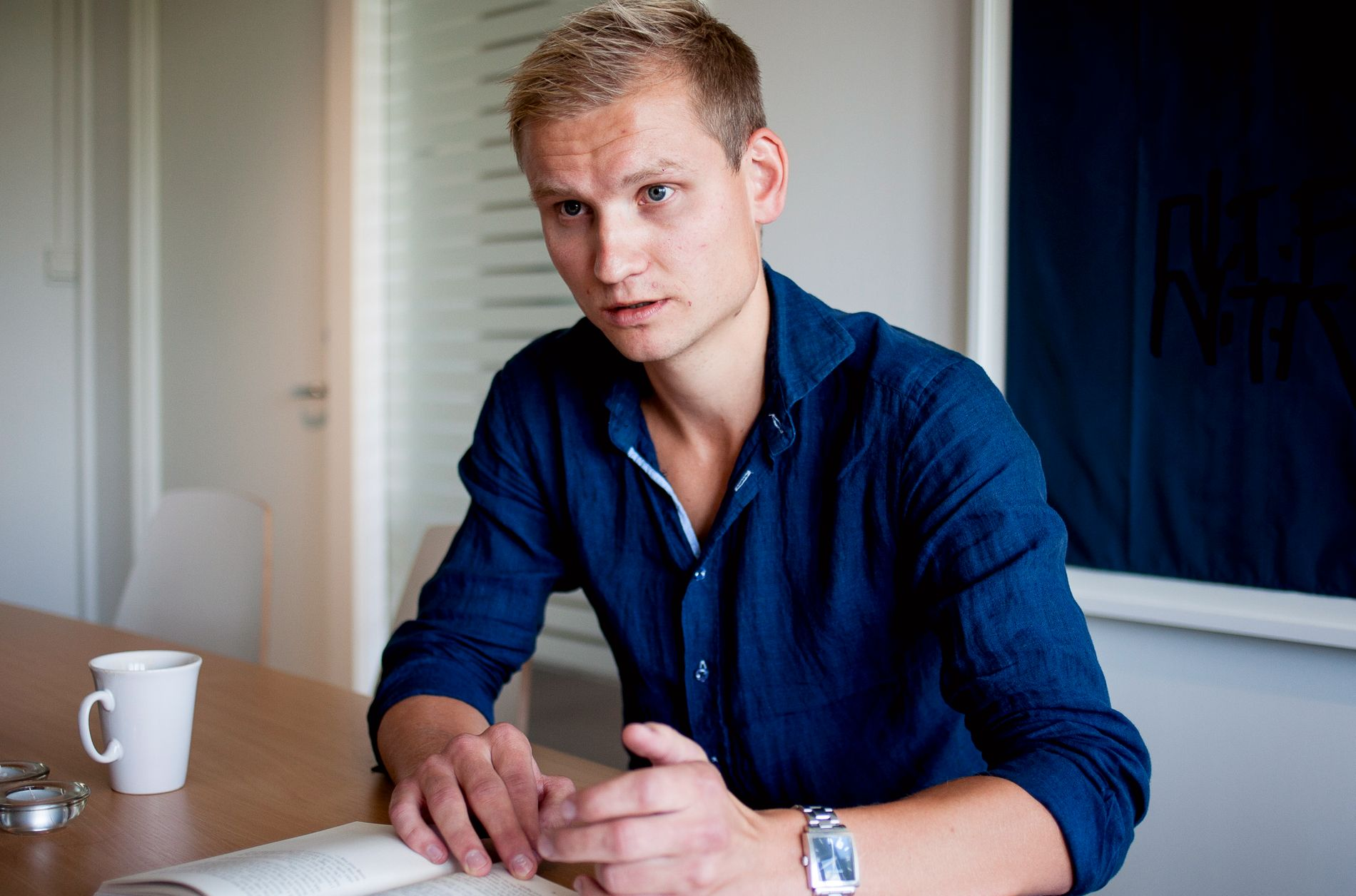 KOMMENTATOR: Adresseavisens Birger Løfaldli fulgte pressetreffet i Molde tirsdag. Her fra en tidligere anledning.