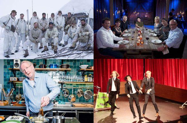 SEERMAGNETER: «Kampen om tungtvannet», «Hver gang vi møtes», «Hellstrøm» og Ylvis er alle flaggskip for hver sine TV-kanaler.