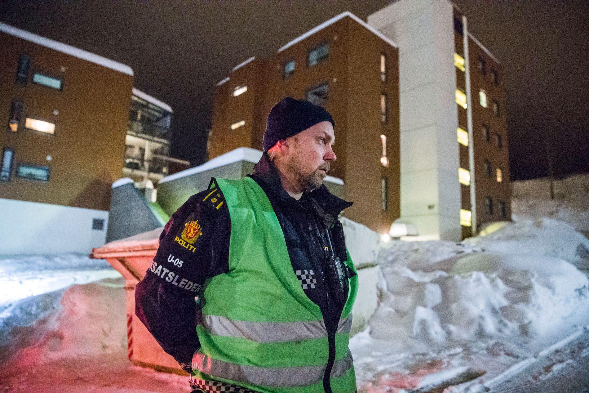 RYKKET UT: Politiet og innsatsleder Anders Bru rykket ut til Nittedal i Akershus 10. mars etter at en mann i 30-årene er blitt skutt med pistol. Mannen døde senere av skuddskadene.