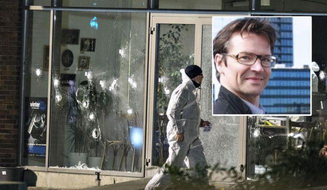 DREPT: Finn Nørgaard (55) ble drept på Krudttønden kulturhus på Østerbro i København under et debattmøte med den svenske muhammedtegneren Lars Vilks.
