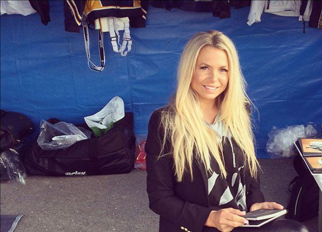 STENGER DØRA: Malin Berås har gitt sitt svar til travselskapet. Nå kan hun ikke lenger kjøre eller ri løp i Norge. Bildet er hentet fra Berås' blogg, og brukes med tillatelse fra henne. Foto: Privat