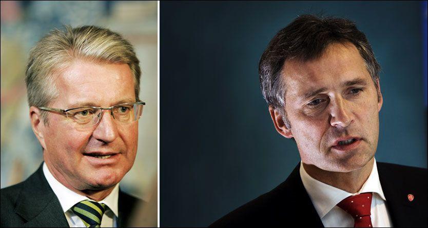 ANGRIPER JENS: Oslo-ordfører Fabian Stang angriper statsminister Jens Stoltenberg for kontakten med DnB NOR-sjefen Rune Bjerke. Foto: SCANPIX/FRODE HANSEN