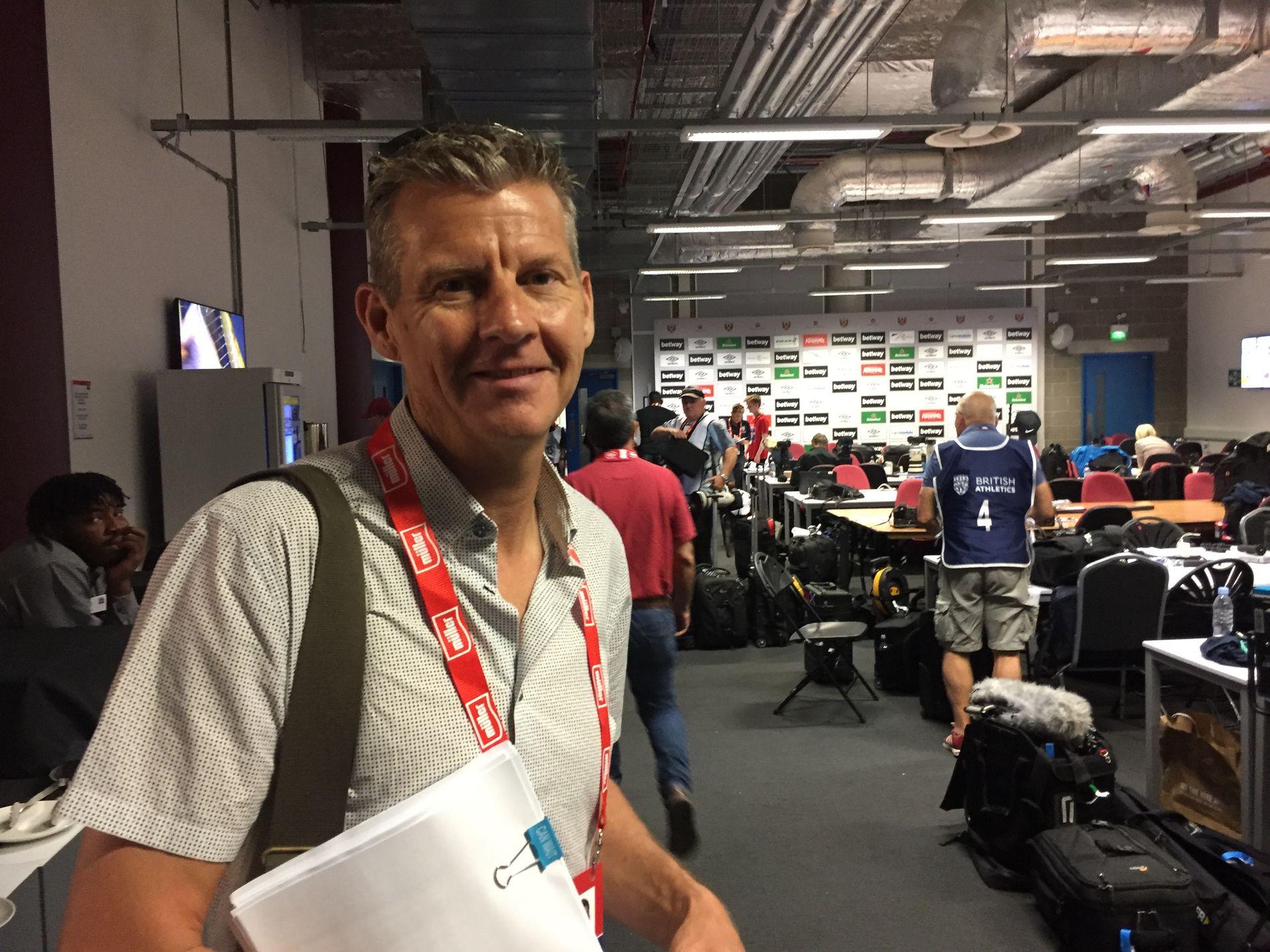 BRITISK LØPERLEGENDE: Steve Cram i London lørdag.