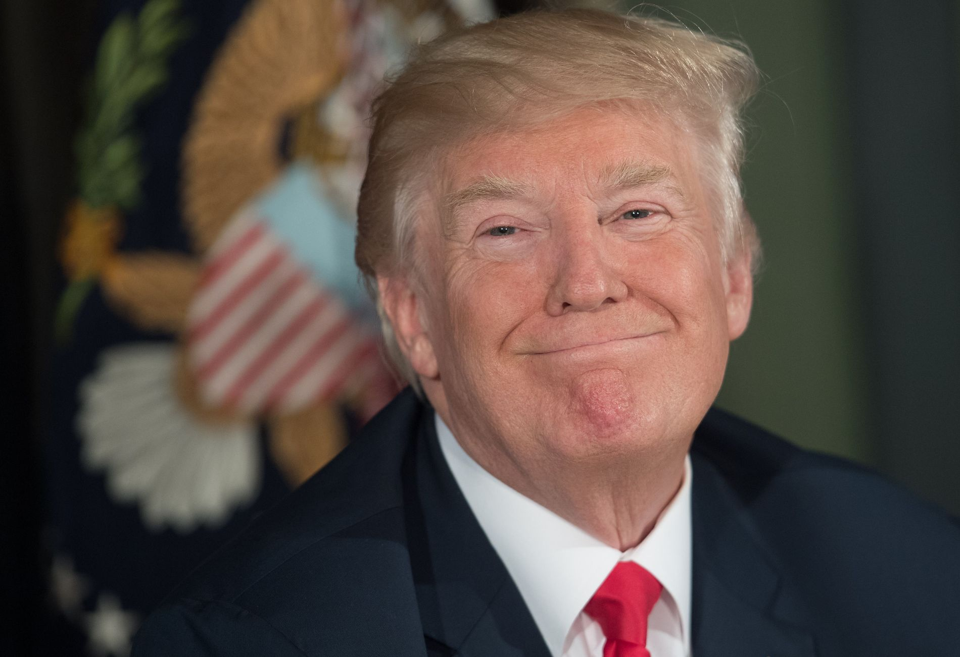 FORNØYD: Donald Trump skryter på Twitter over alle tingene han mener å ha fått til som president så langt.