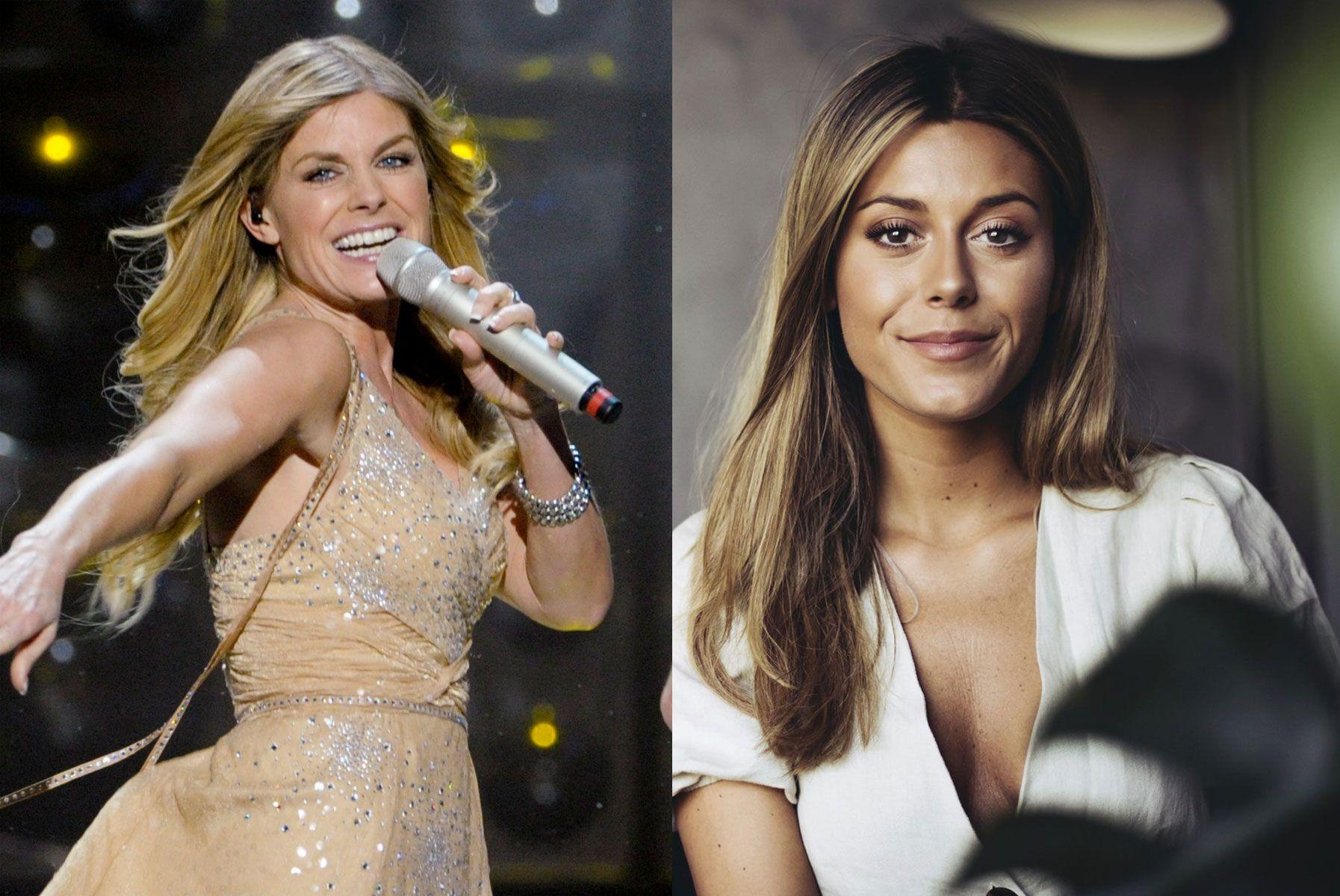 MOR OG DATTER: Bildet av Pernilla Wahlgren (t.v.) er fra Melodifestivalen i 2010, mens Bianca er avbildet i sommer.