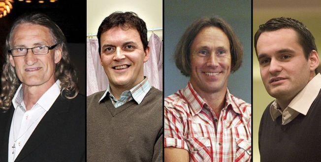 UT PÅ TUR: Erling Havnå, Johnny Thendrup, Alf Henrik Christensen og Lars-Erik Andersen ble alle dømt for NOKAS-ranet i 2004. I helgen av de igjen samlet i Danmark