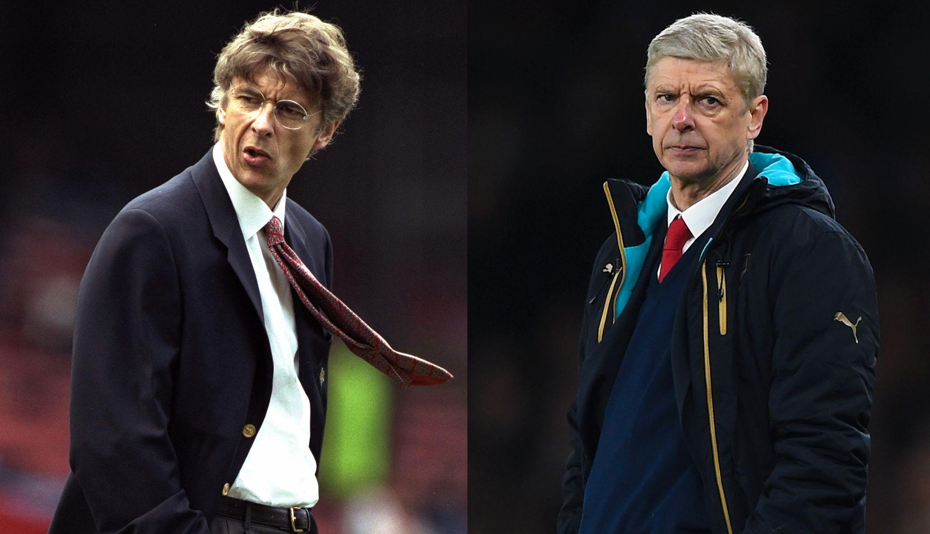 DA OG NÅ: Arséne Wenger kom til Arsenal i 1996, og har kontrakt til sommeren 2019.
