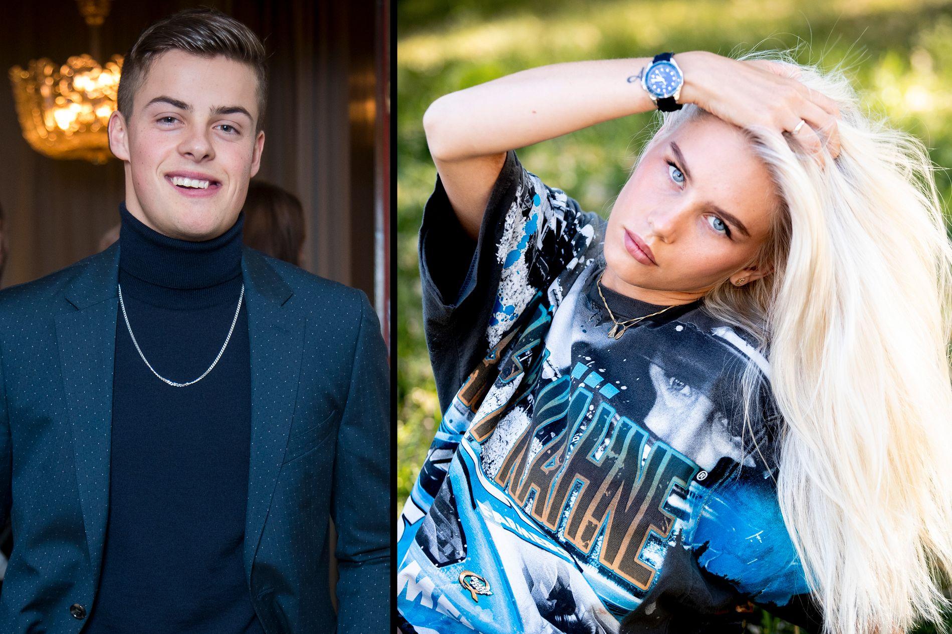 PRATER UT: Herman Tømmeraas og Amalie Snøløs sto nylig frem som kjærester. Nå snakker Amalie ut om forholdet til «Skam»-stjernen.
