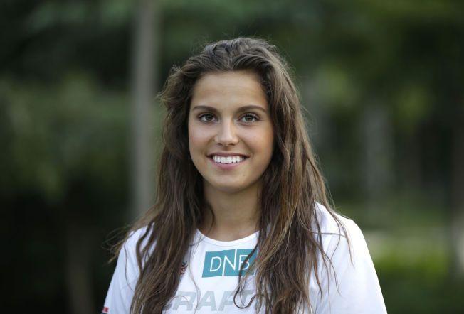 DANSK FORSTERKNING: Amalie Iuel (21) hadde forsøkt å bli norsk i over to år da hun endelig ble det for et par måneder siden. Natt til søndag norsk tid løper hun for å komme til VM-semifinalen på 400 meter hekk – for Norge.