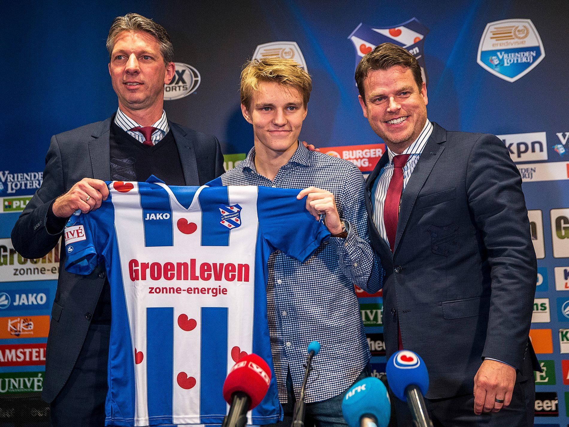 HEERENVEEN-KLAR: Martin Ødegaard ble lånt ut til Heerenveen i januar 2017.