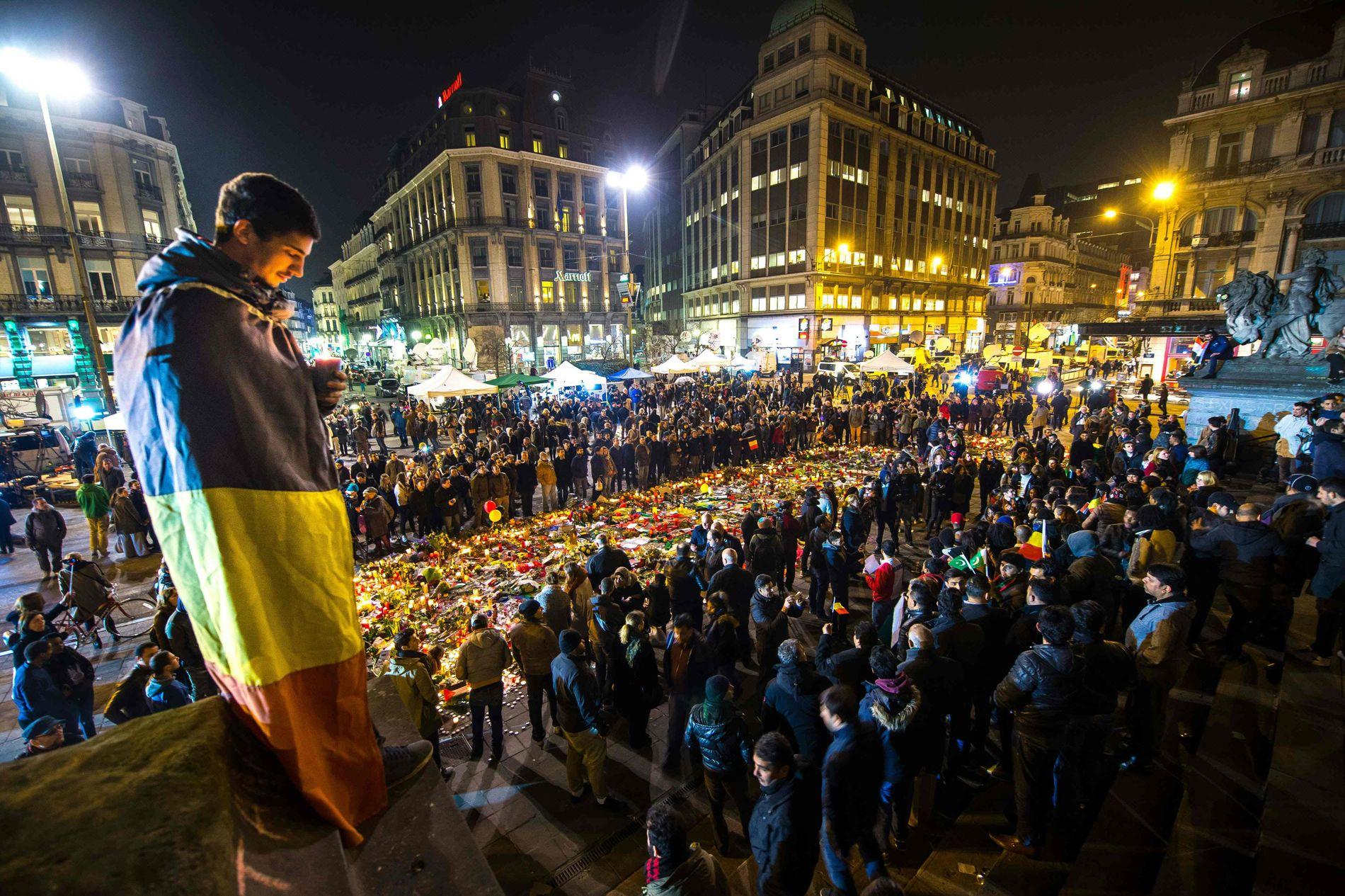 I SORG: Terrorangrepene i Brussel mars var det blodigste i landets historie.