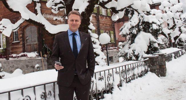 KONTANT: Konserndirektør Trond Bentestuen i DNB er i Davos denne uken for å følge World Economic Forum.