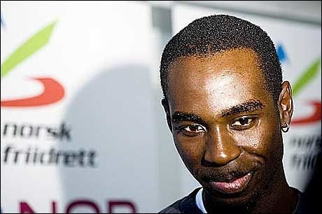 DROPPER 200 METER: Jaysuma Ndure tenker på helsa. Foto: Scanpix