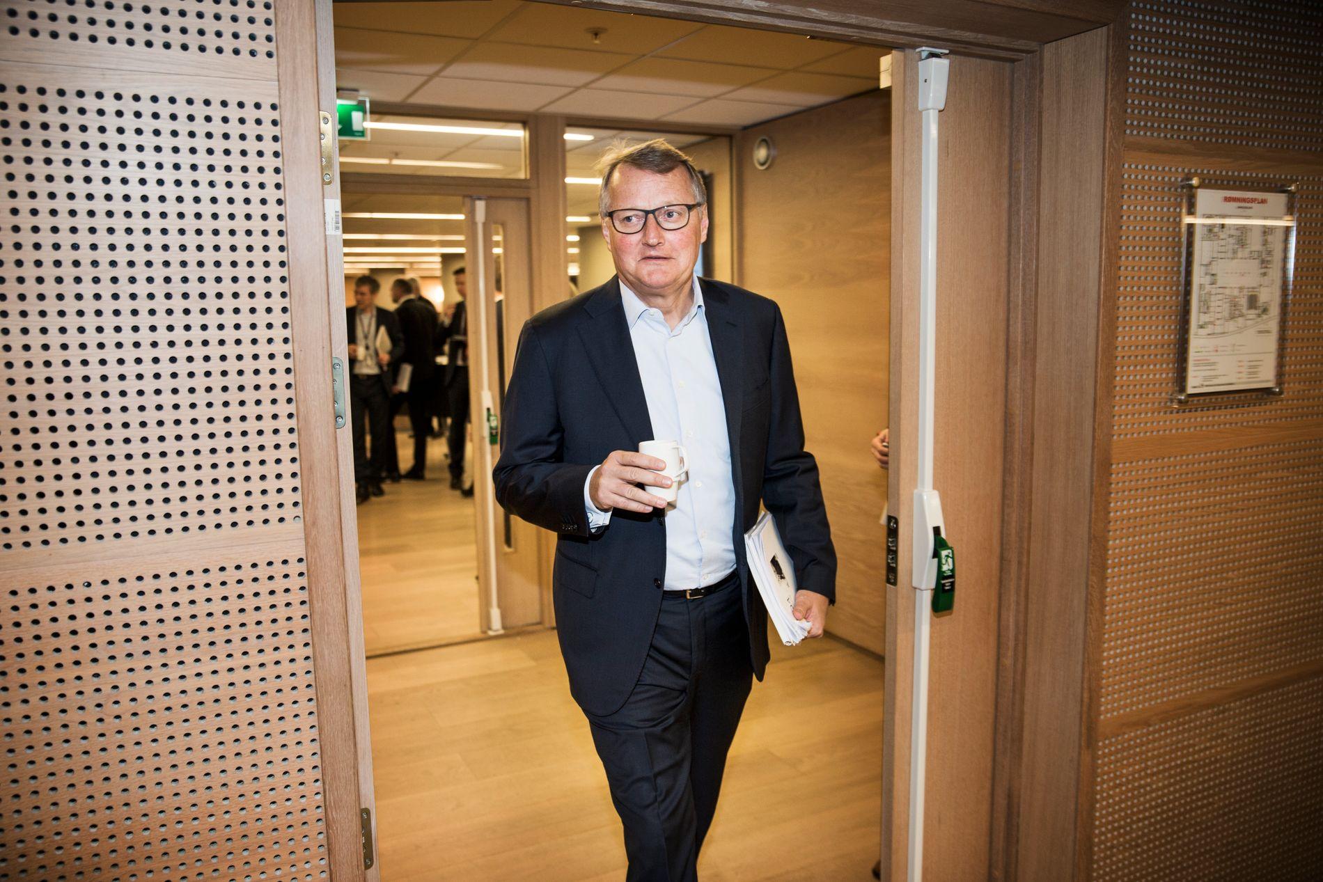 VISSTE IKKE: DNB-sjef Rune Bjerke sier at han ikke kjente til datterselskapets tidligere praksis med å etablere selskaper i skatteparadis før Aftenposten tok kontakt.
