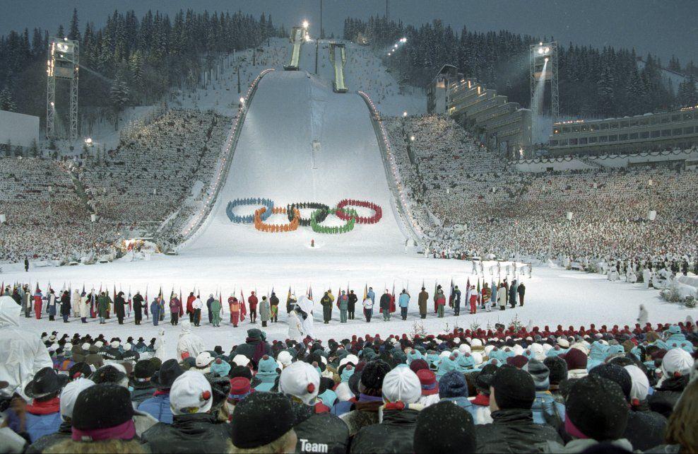 ÅPNINGEN I -94: Slik så det ut da de forrige olympiske lekene i Norge åpnet.