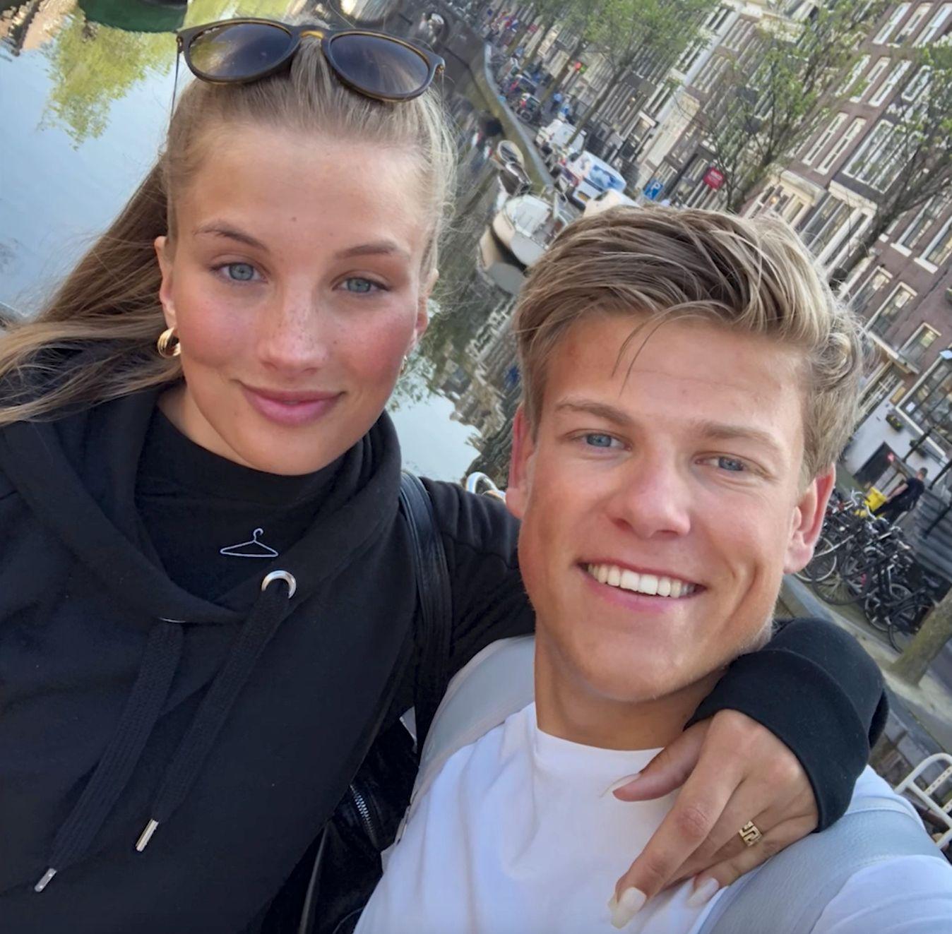 FLYTTER SAMMEN: Pernille Døsvik og Johannes Høsflot Klæbo.