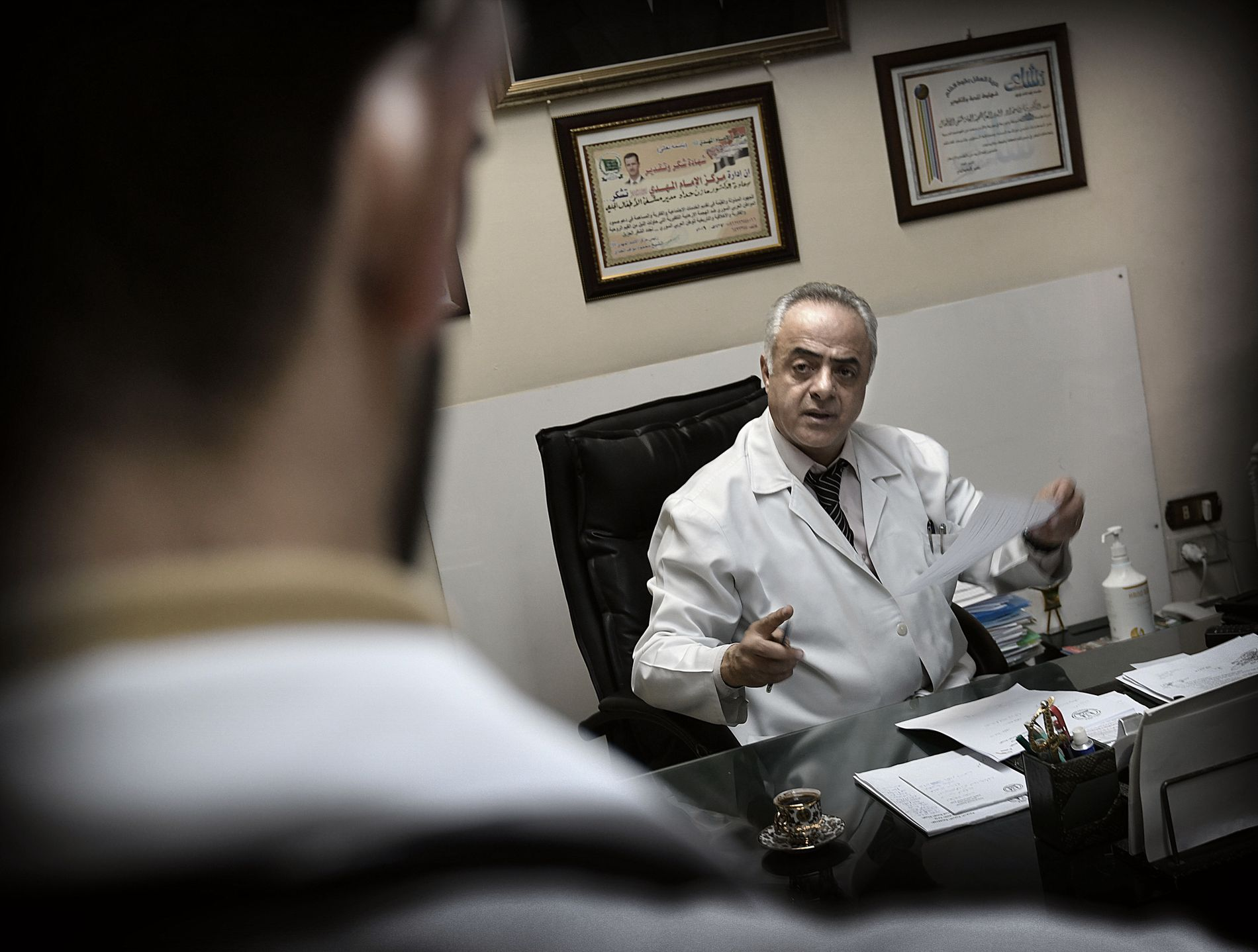 SYKEHUSSJEF: Mazen al Haddad er direktør ved barnesykehuset i Damaskus. Sykehuset har 470 sengeposter og tar imot pasienter fra hele landet.