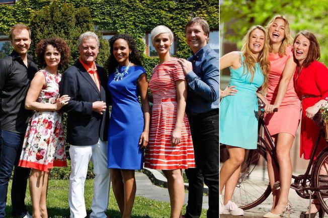 SOMMERMORO: NRKs «Sommeråpent» med programlederene Atle Bjurstrøm, Nadia Hasnaoui, Dan Børge Akerø, Haddy N´jie, Anne Rimmen og Tore Strømøy er mer populær blant TV-seerne enn TV 2s «Sommertid» med Ida Fladen, Guri Solberg og Gundhild Dahlberg.