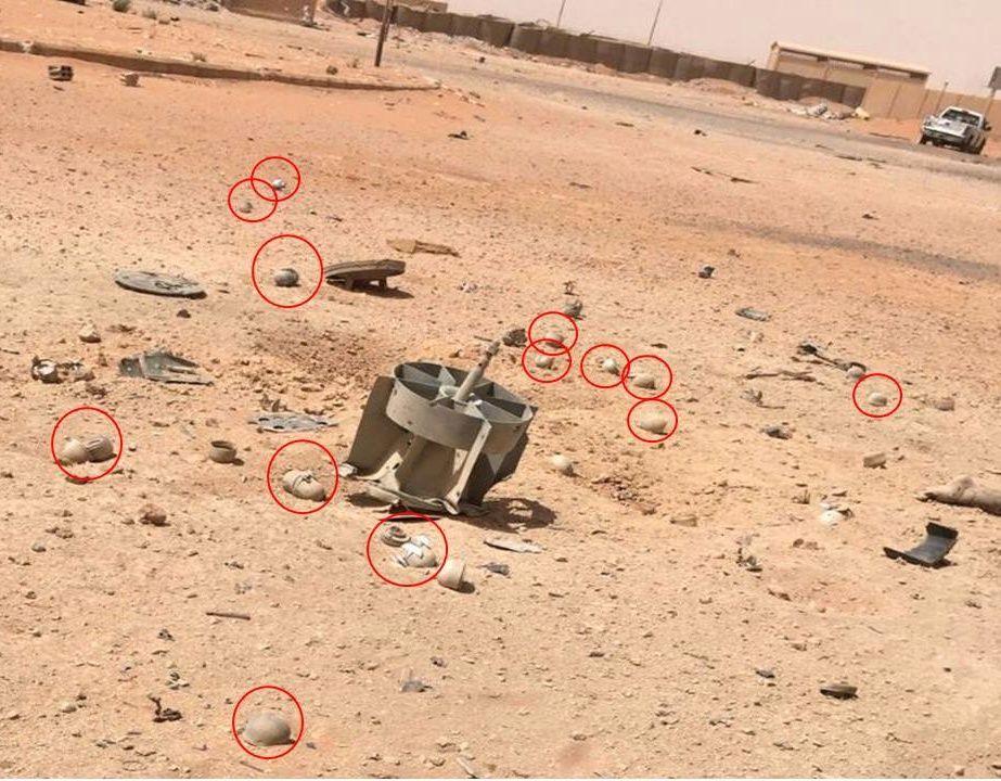 DØDELIG ANGREP: Restene av en russisk klasebombe i utkanten av  militærleiren i At-Tanf i Syria, dagen etter at russiske fly gikk til angrep. Leiren er hovedkvarteret til New Syrian Army (NSyA), gruppen norske spesialsoldater skal trene opp både i Jordan og i Syria.