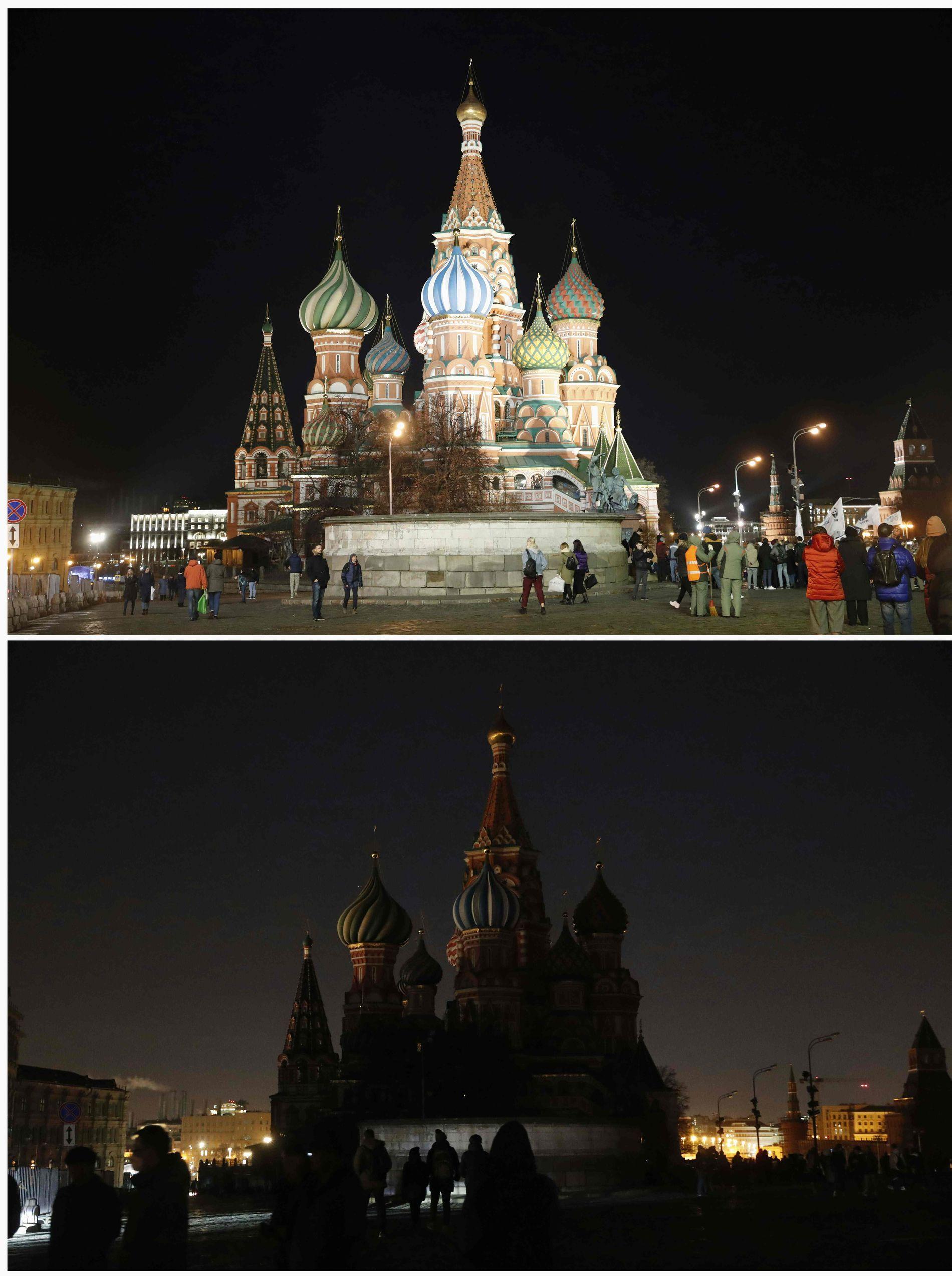 MOSKVA: Nederste bildet viser Vasilij-katedralen.