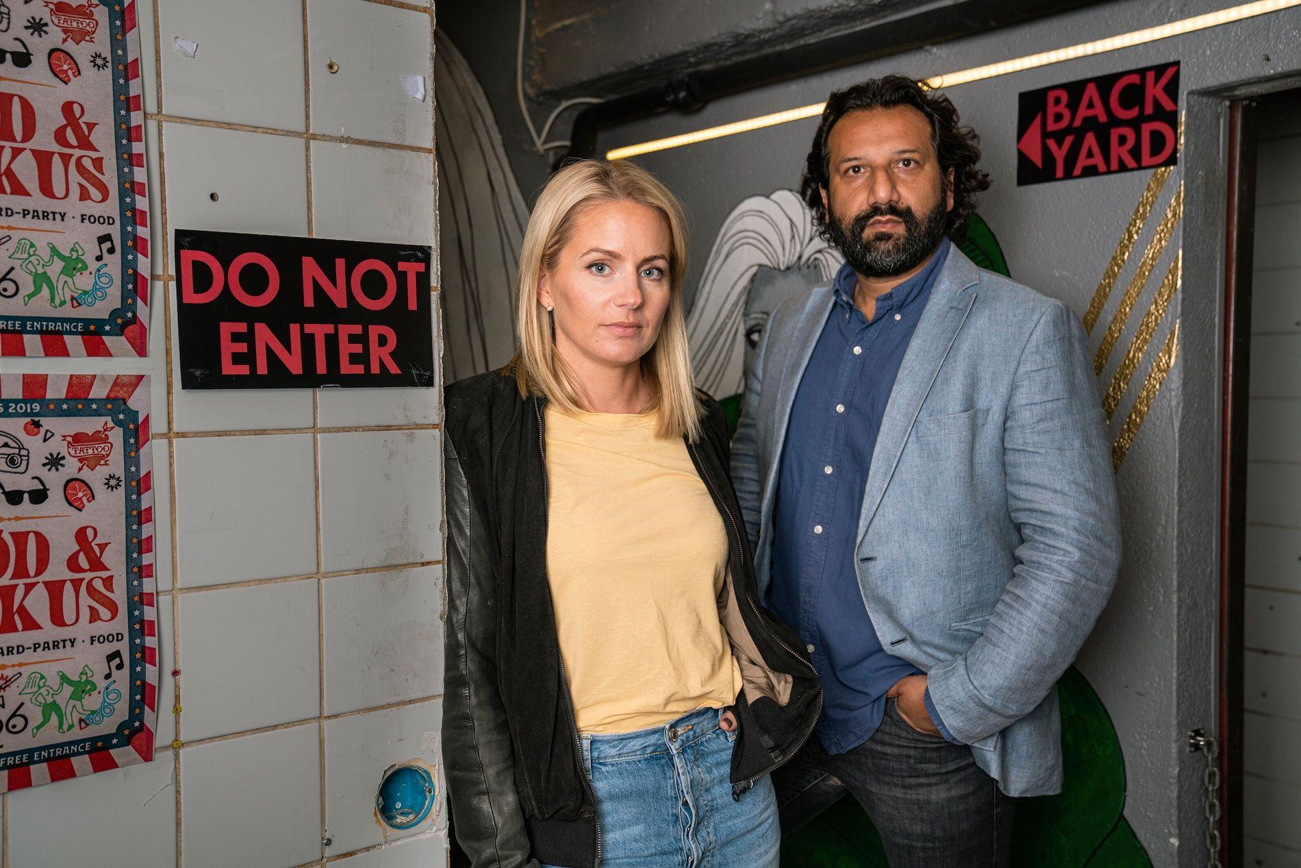 NYTT PROGRAM: Janne Amble, kjent fra «Insider Fem» og TV 2-journalist Kadafi Zaman skal lede «Norge bak fasaden».