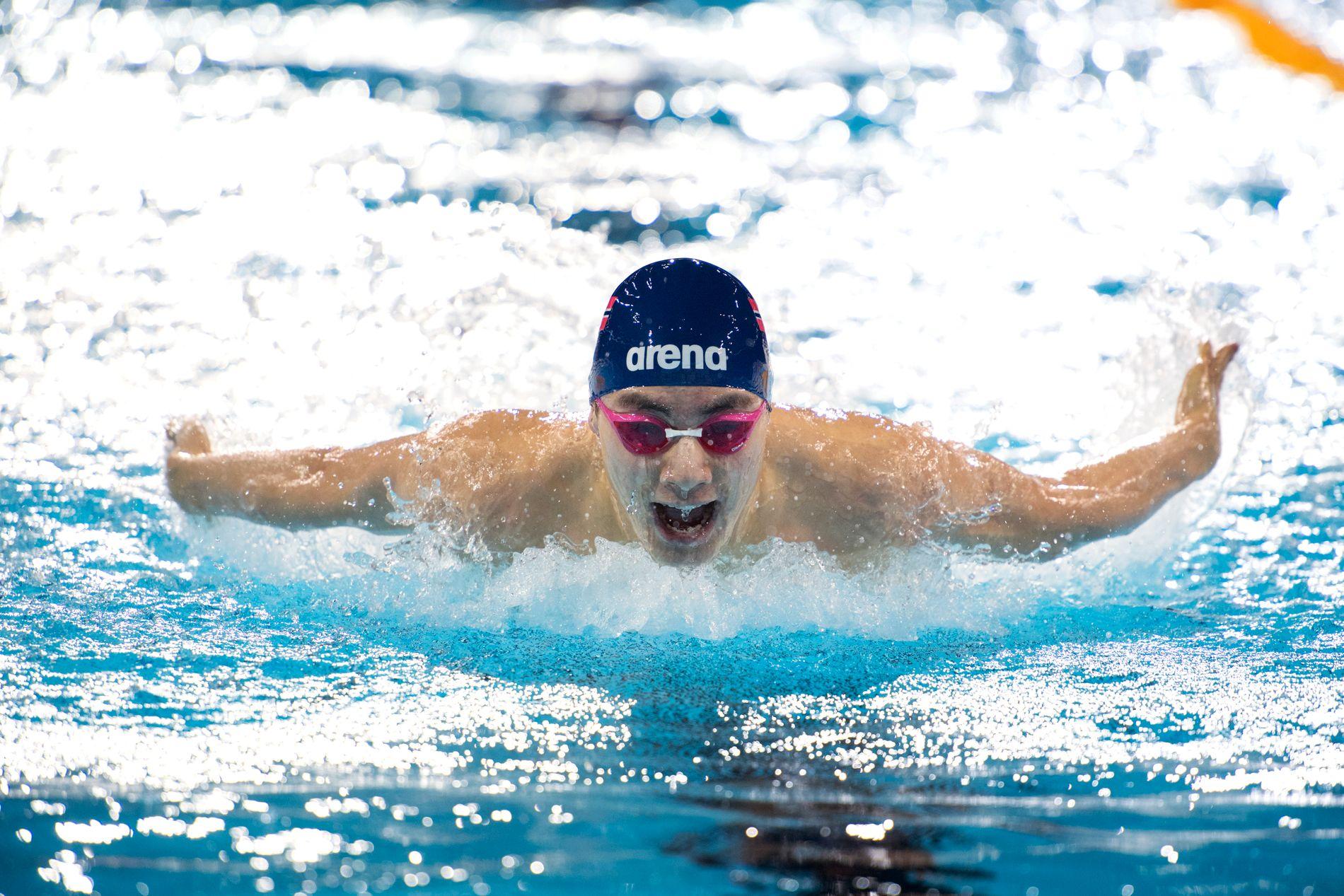 TUNGT: Tomoe Zenimoto Hvas kom seg trygt gjennom forsøksheatet på 200 meter butterfly, og sikret seg finaleplass på EMs siste dag.