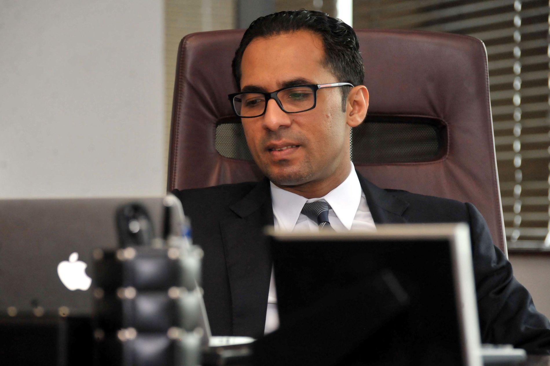 MILLIARDÆR: Her er Mohammed Dewji på sitt kontor i Dar-es-Salaam i april 2015.