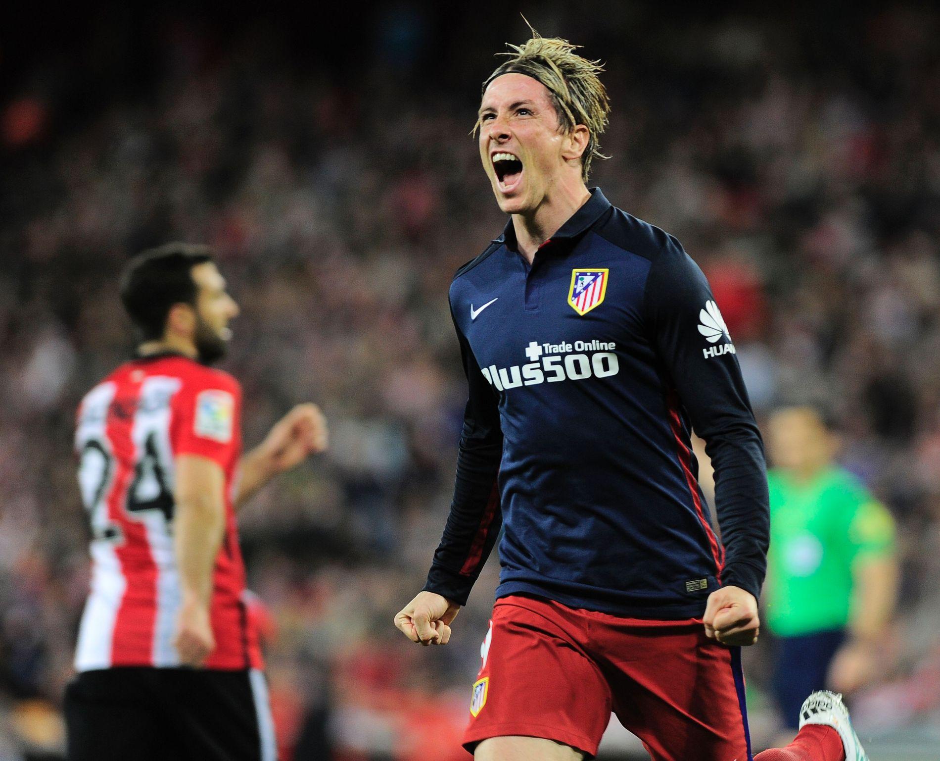 JUBEL: Fernando Torres feirer etter scoringen borte Athletic Bilbao tidligere i april - hans femte på fem kamper. Det var første gang i karrieren han klarte akkurat den bedriften.