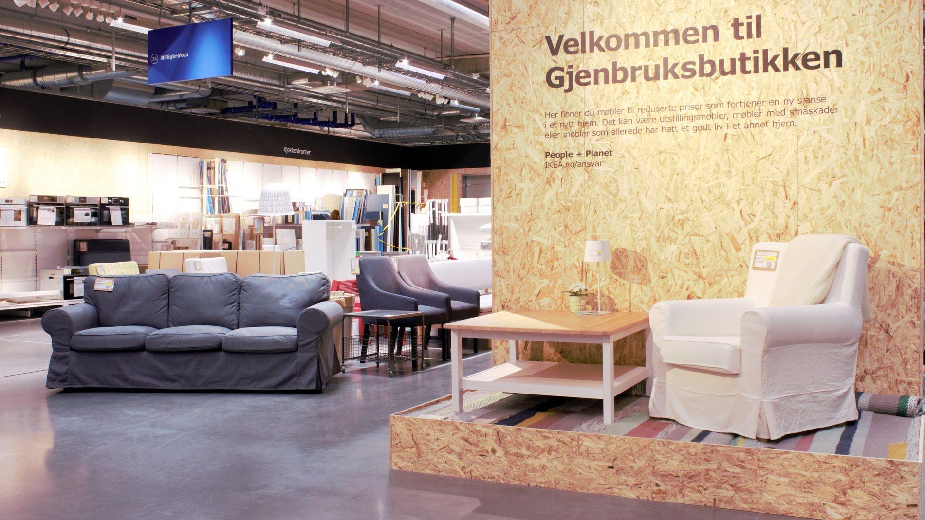 SELGER MØBLENE DINE: Ikea sier de vil kjøpe nye og gamle møbler som er brukt, men at de ikke vil betale mer enn 30 prosent av utsalgsprisen.