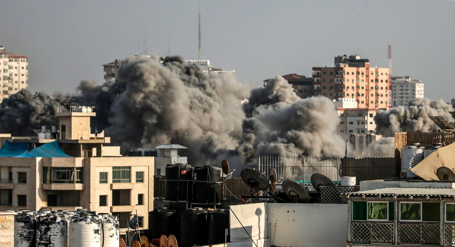 STØRSTE LUFTANGREP: To ungdommer er drep i det største luftangrepet på Gaza siden 2014.