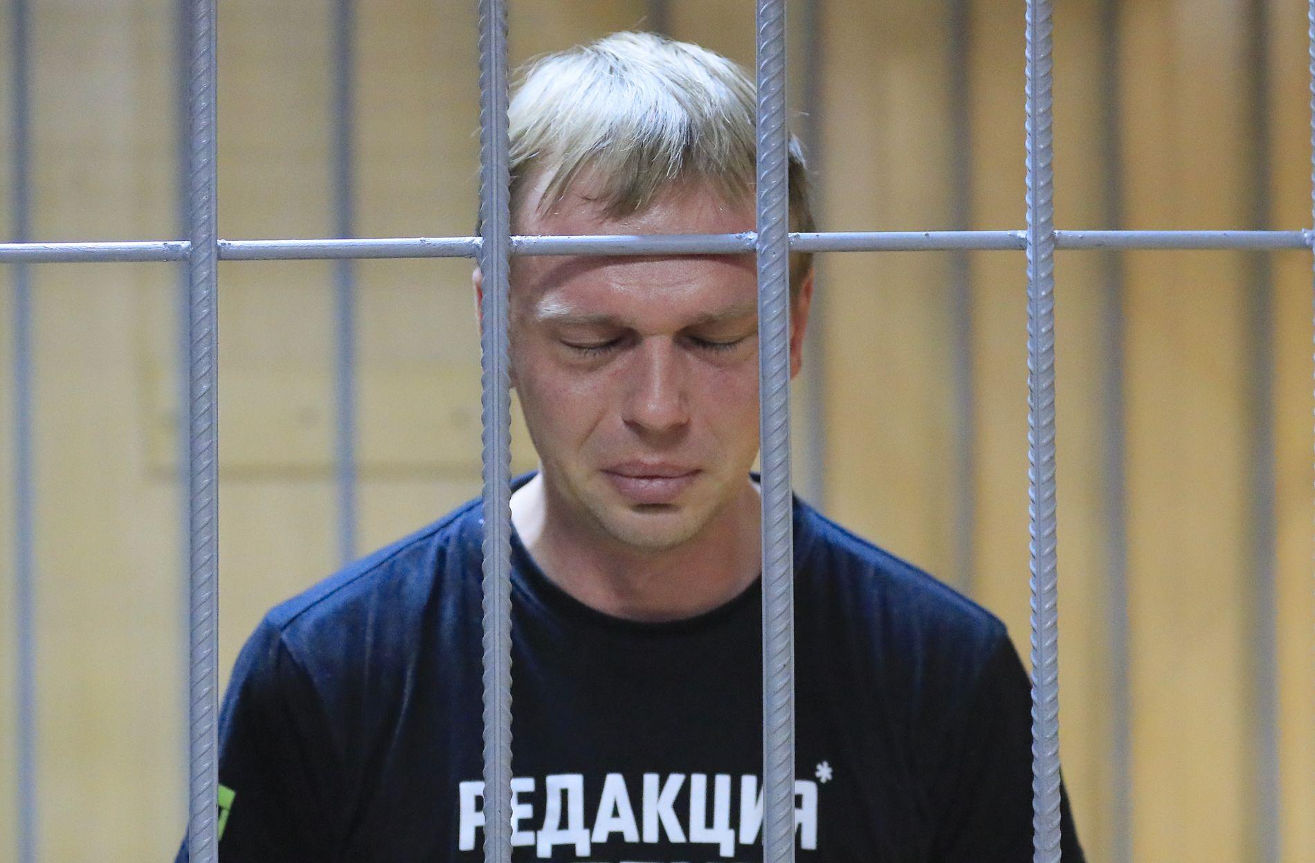 LØSLATT: – En stor takk til dere for støtten, sa den russiske gravejournalisten Ivan Golunov da han ble løslatt tirsdag denne uken.