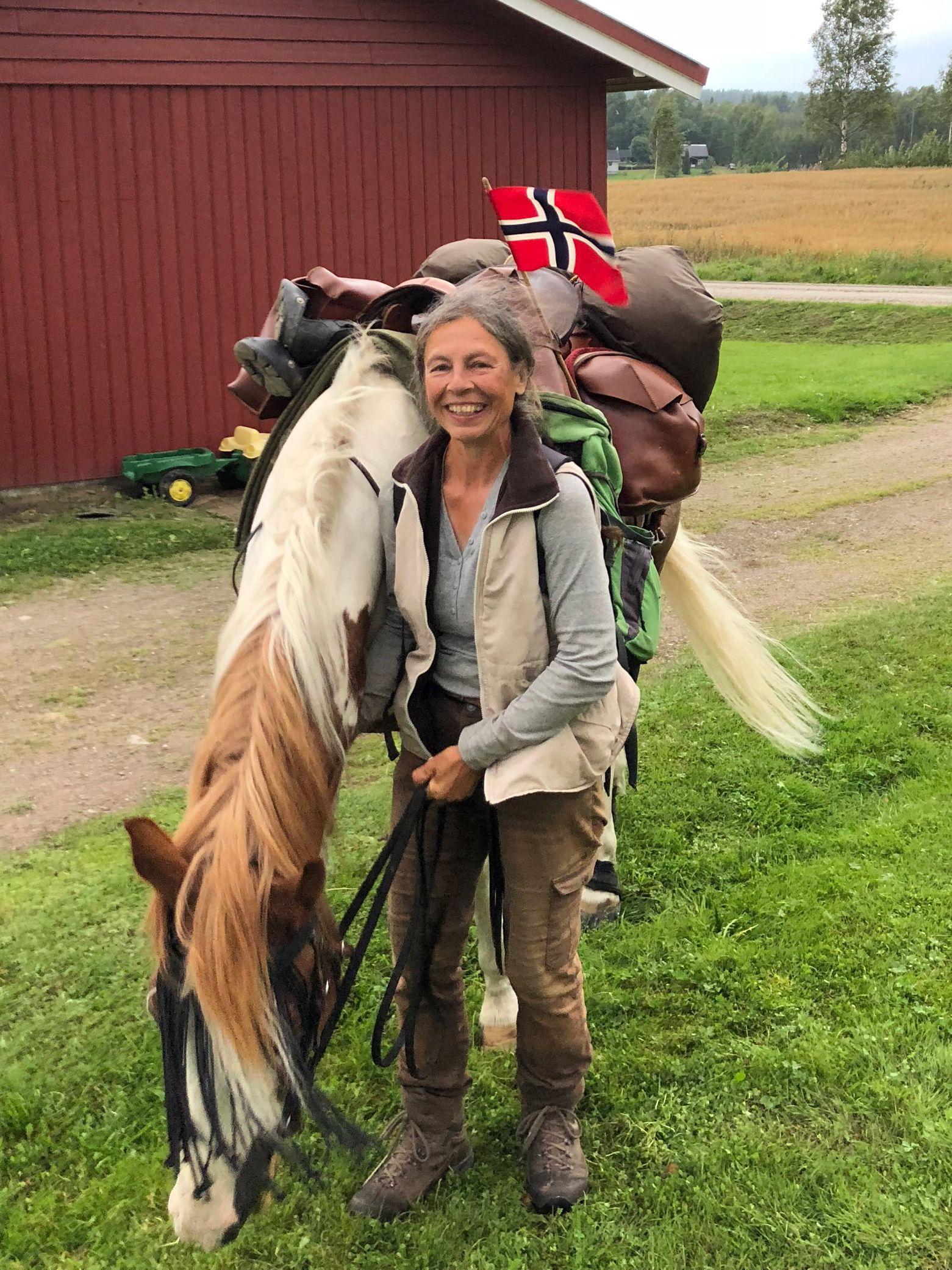 FREMME: To slitne fremme i Braskereidfoss i Våler 22. august i år, der norsk slekt ventet.