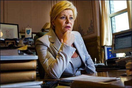 Føler seg oversett: Frp-formann Siv Jensen er skuffet over at partiet kun har fått gjennomslag for to av femti forslag de siste to årene. Foto: Frode Hansen