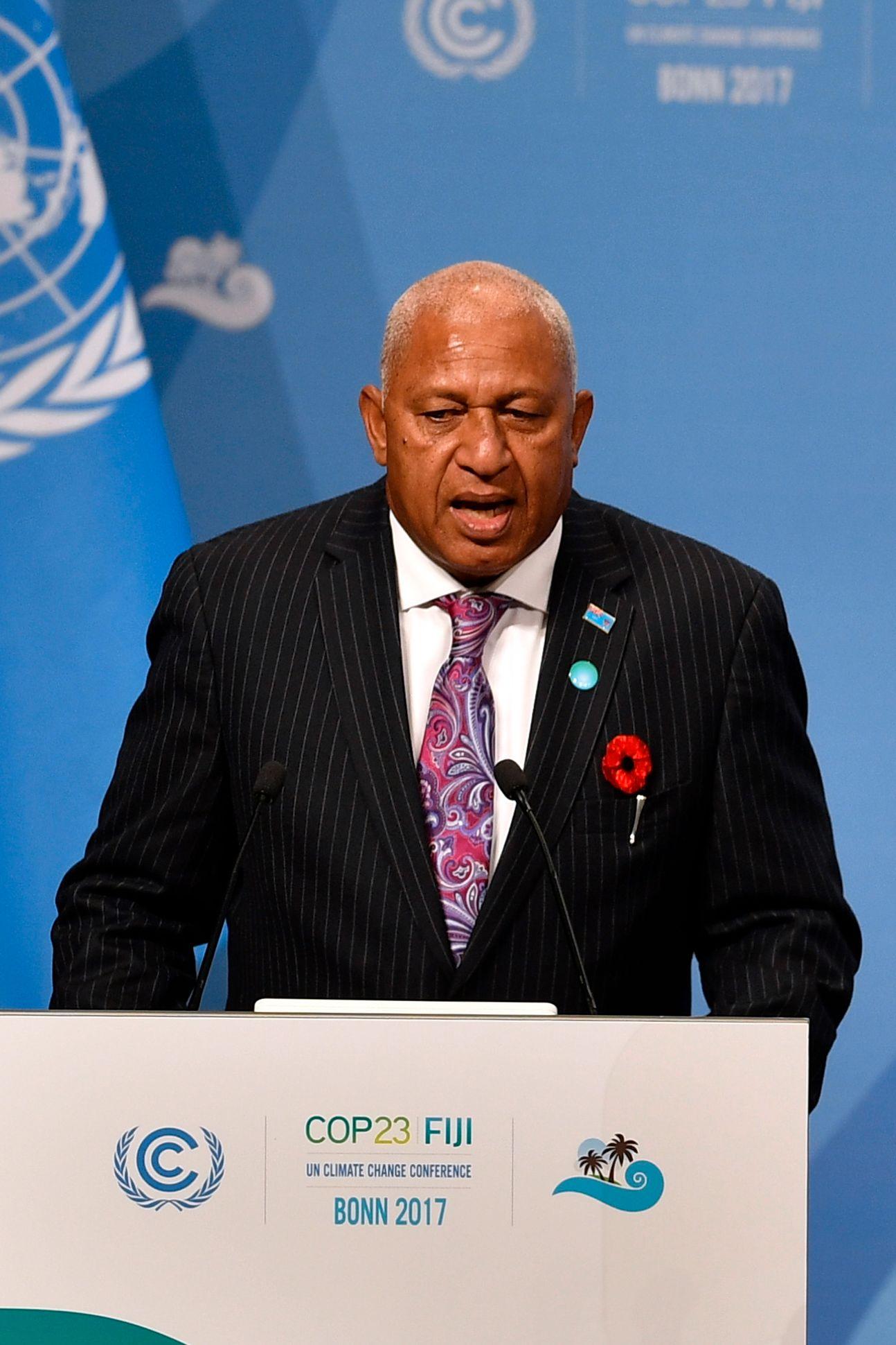 «VI VET ALLE HVA KULL GJØR»: Fijis statsminister Frank Bainimarama leder klimakonferansen i Bonn, som er den første konferansen etter at USA trakk seg fra Parisavtalen.